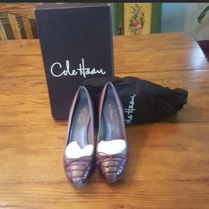 Cole Haan Violet Air Lace Pump Violet/Oxblood